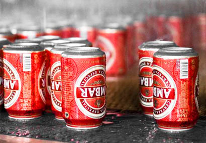 Distribuidor de Cervezas Ambar en lata para kioskos de helados