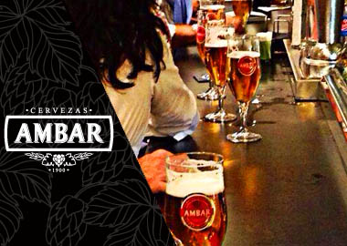 Montaje de grifos de Cervezas Ambar para bares