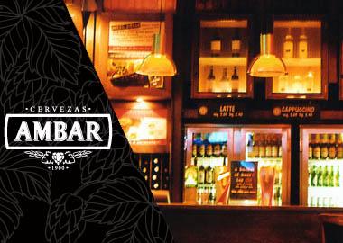 Montaje de grifos de Cervezas Ambar para pubs