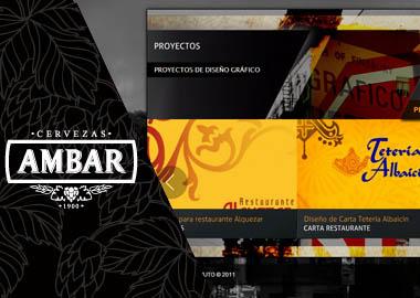 Diseño web para hostelería con cervezas Ambar